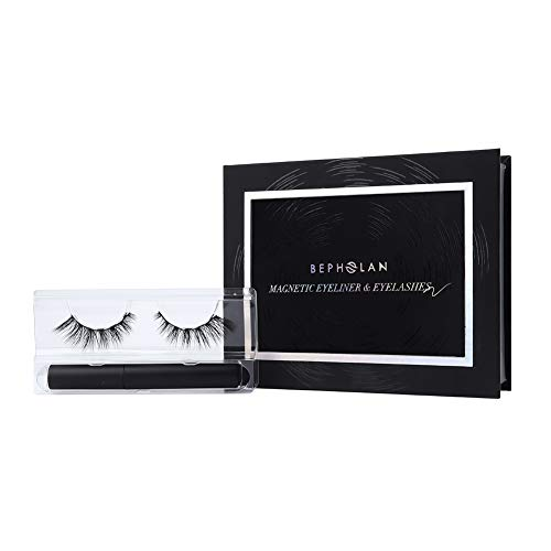 BEPHOLAN Luxuries Magnetic Eyelashes Kit| With Magnetic Eyeliner And 4D Magnetic Eyelashes| Natural Cat-eye Style| No Glue Needed| Easy To Apply| Super Strong Hold| 002