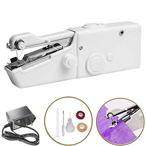 ZHANChen Mini Nähmaschine Handnähmaschine Testsieger Schneller Sewing Machine Portable für DIY Kleidung Vorhang Baumwollstoff