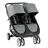 Baby Jogger City Mini 2 Double Pushchair | Lightweight, Foldable & Compact Double Stroller | Slate (...