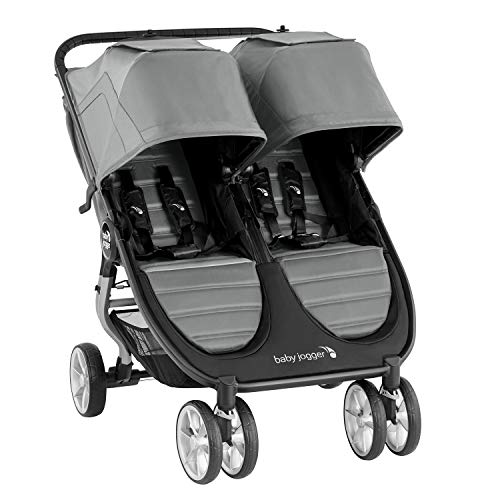Baby Jogger City Mini 2 Double Pushchair | Lightweight, Foldable & Compact Double Stroller | Slate (Grey)