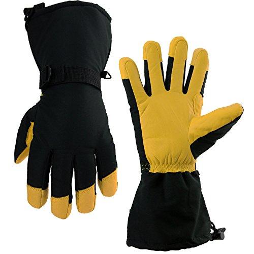 OZERO Ski Gloves, -40°F Cold Proof Winter Snow...