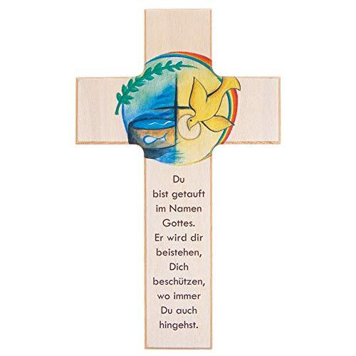 Fritz Cox - Holz-Kreuz zur Taufe - perfektes Taufgeschenk - 20cm Taufkreuz
