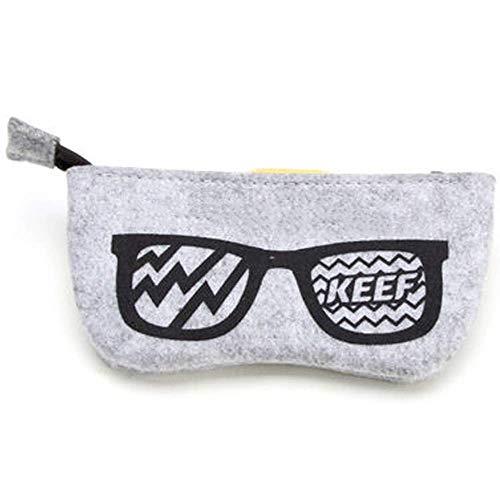LIYONG Aufbewahrungsbox für Sonnenbrillen, Filz, tragbar, HLSJ