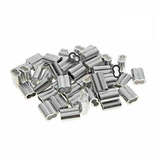 Kitchen-dream Aluminium-Crimpschlaufe für 4mm Drahtseil und Kabel (100)