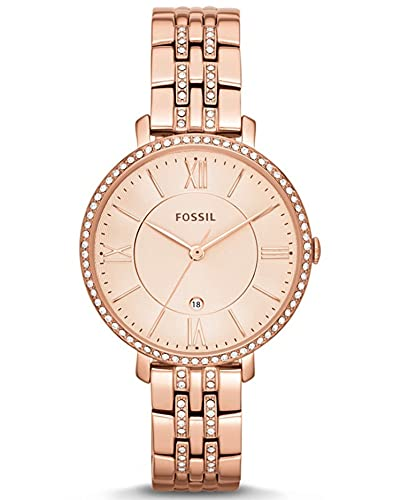 Fossil Jacqueline Analog Rose Gold Dial Women's Watch-ES3546