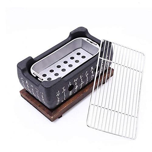 WPCBAA Japanischen Stil BBQ Grill Für 2-4 Personen Holzkohlegrill Aluminiumlegierung Party Zubehör Tragbare Grill Werkzeuge (Size : L)