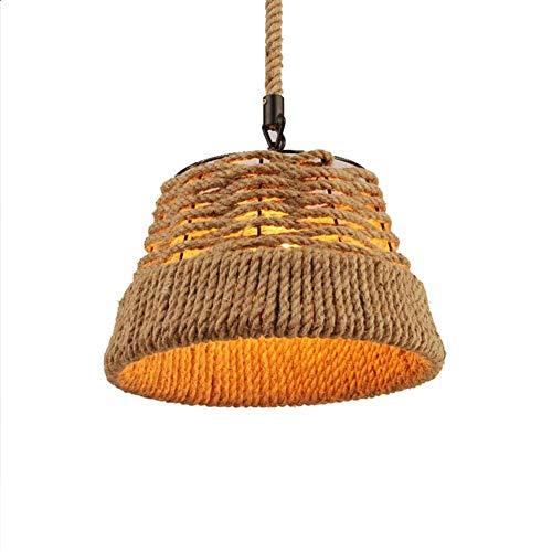 Kroonluchter, Coastal Beach Rope Rattan Woven hanglamp, hanglamp for woonkamer, slaapkamer, studeerkamer, Hotel, Restaurant