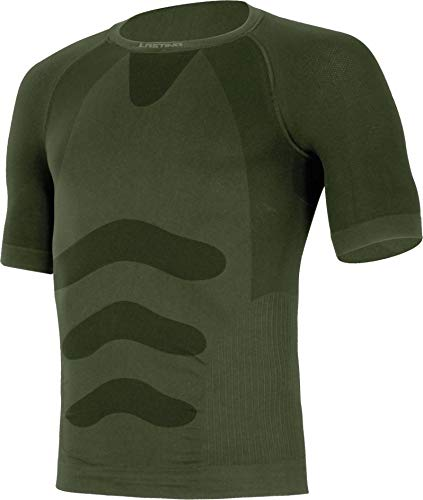 Lasting Men's 180G Seamless Light ABEL T-Shirt Homme, Vert Militaire, S/M