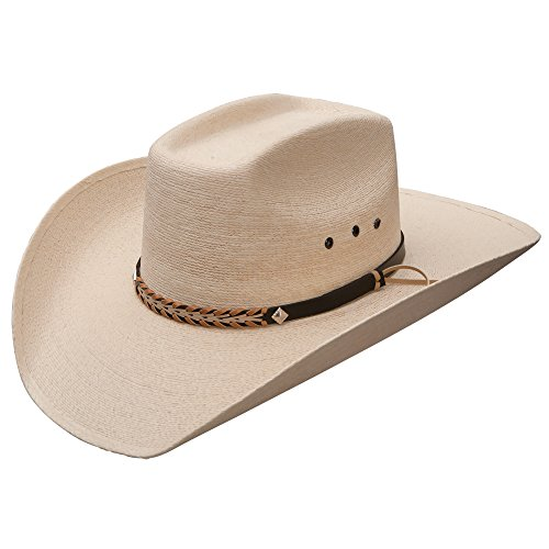 Stetson And Dobbs Hats SSSQRE-7940 Square,Eyelets, Reg Oval Cowboy Hat, Natural - 7.5/L