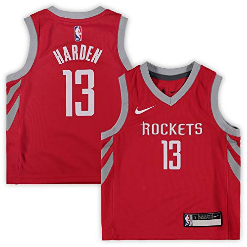 Nike James Harden Houston Rockets NBA Toddler 2-4 Red Road Icon Edition Replica Jersey (Toddler 2T)