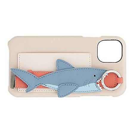 FLOWERING フラワーリング iPhone11/XR対応 バンド付ケース サメ ベージュ SCCR002-BE