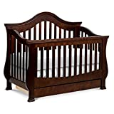Million Dollar Baby Classic Ashbury 4-in-1 Convertible Crib with Toddler Bed Conversion Kit in White, Greenguard Gold Certified