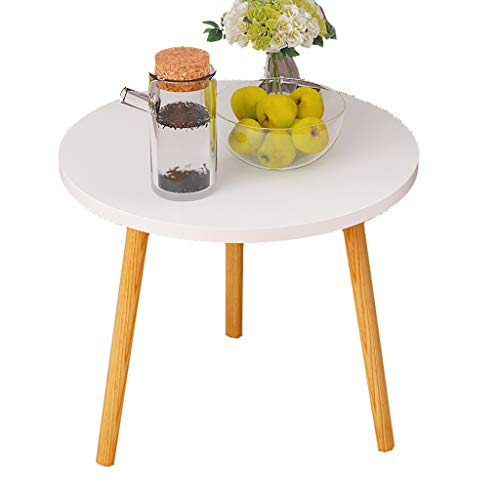 GJ Round End Table Living Room, Coffee Table, Sofa Hall Table for...