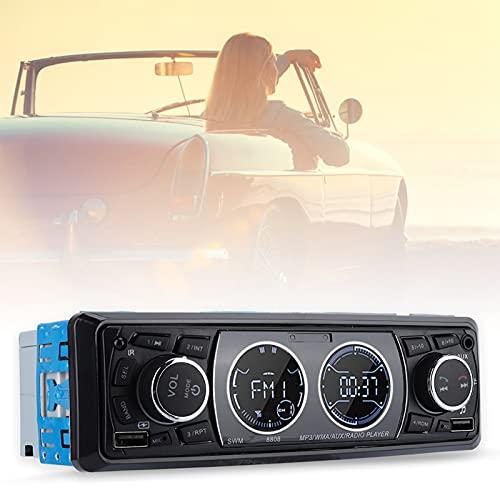 01 Audio estéreo Bluetooth, Reproductor de MP3, Compatible con USB/FM/SD, Seguro y Duradero para Leer Canciones de Disco en U, Usb2 para vehículos