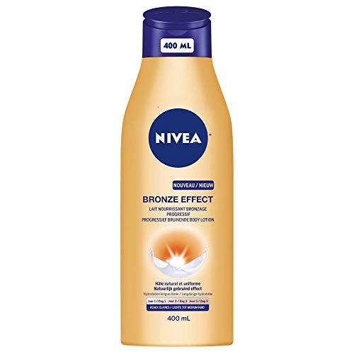 Leche nutritiva Nivea con efecto bronceado progresivo para pieles claras, 400ml