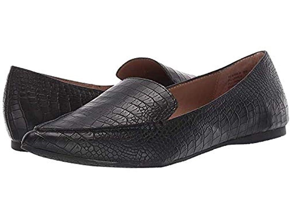 狂信者スチュワード汚いレディースローファー?靴 Feather Black Croco (24.5cm) W [並行輸入品]