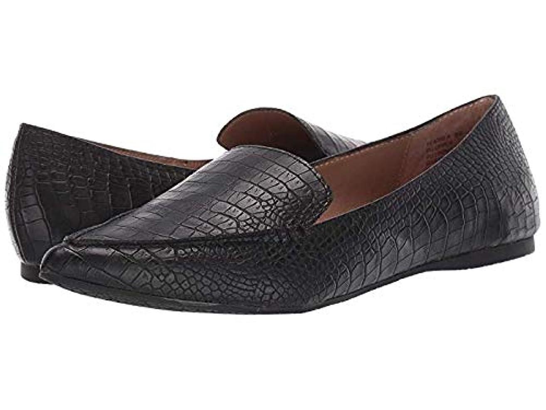 ステンレスディスクエンゲージメントレディースローファー?靴 Feather Black Croco (23.5cm) M [並行輸入品]
