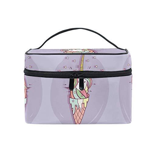 Crème Glacée Licorne Trousse de Maquillage Femmes Voyage Sac à Cosmétique Cas Trousse de Toilette Bag