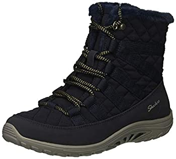 Skechers Women s Reggae Fest-Moro Rock-Short Quilted Lace Up Bootie Ankle Boot Navy 9 M US