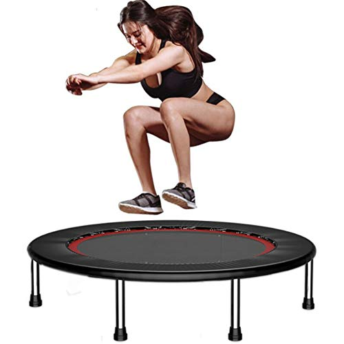 CTEGOOD Exercise Trampoline Foldable, Rebounder Trampoline for Adults and Kids with Safety Anti-Skid Pads Max Load 200kg for Quiet and Safely Cushioned Bounce