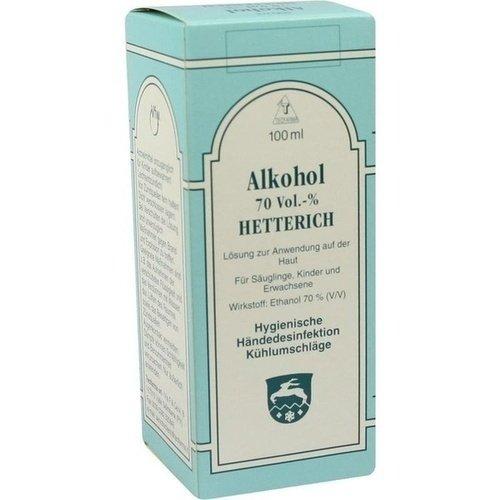 Alkohol Hetterich 70% Lösung, 100 ml