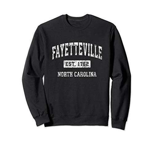 Fayetteville North Carolina NC Vintage Established Sports Sweatshirt