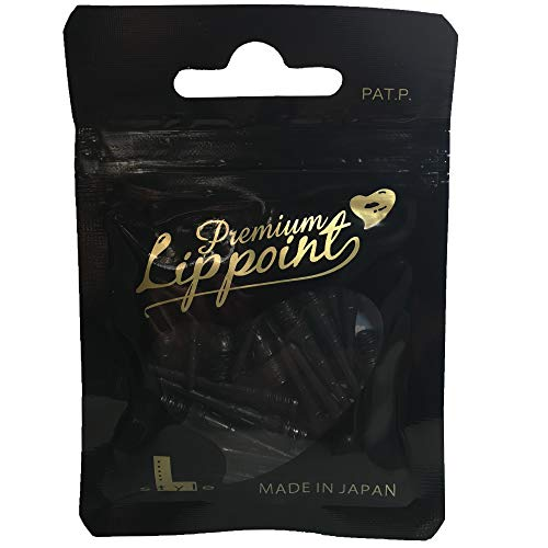 LSTYLE Premium Lippoint - Bag of 30 2BA Standard Dart Tips - Extra Strong and Durable Points - Black