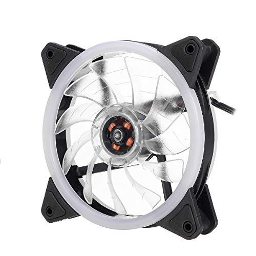 SHANG-JUN Fácil de Montar PC Funda Fan Computer Ultra Silent LED Light Lights Cooler Enfriamiento Calentador de Calor 120 mm Conveniente