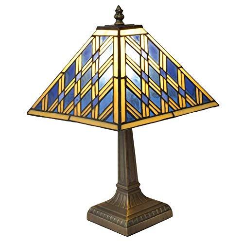 Näve Tiffany Pyra - Lámpara de mesa (metal y cristal, E14, 40 W)