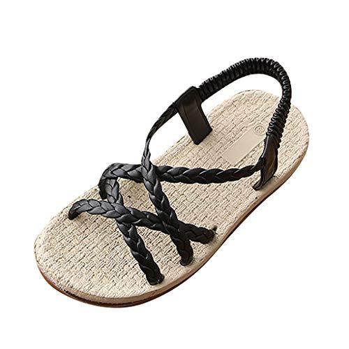Sandalias Niña Verano ❤ Rawdah Sandalias para Niñas Fiesta Zapatillas Zapatos Niñas Princesa Baby Girls Beach Sandalias Sneaker Niño Niños Tejer Solidos Zapatos Individuales