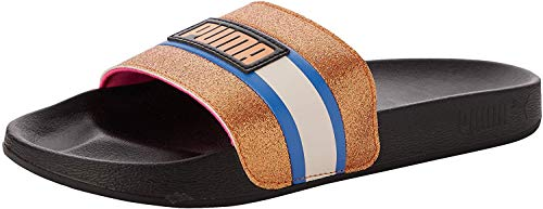 PUMA Leadcat FTR 90S Pop Wns, Scarpe da Spiaggia e Piscina Donna, Nero Black/Vibrant Orange/Palace Blue, 42 EU