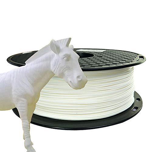 PLA Max PLA+ White PLA Filament 1.75 mm 3D Printer Filament 1KG 2.2LBS Spool 3D Printing Material Stronger Than Regular PLA Pro Filament CC3D