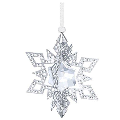 Swarovski 5135808 Di Natale Ornamento Stella, 7 X 9 X 7 Cm, Colore: Argento