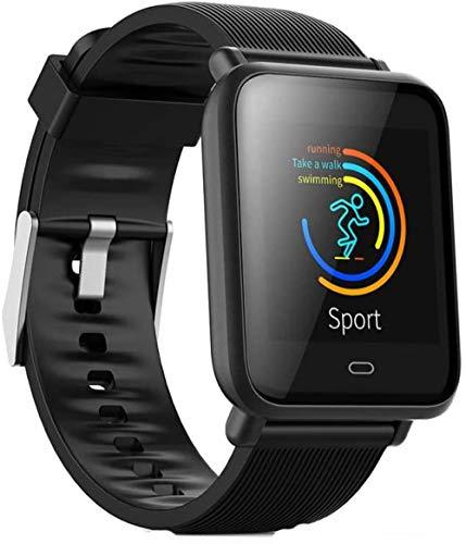 JSL Reloj inteligente para adultos con frecuencia cardíaca, presión arterial, multifunción, pantalla de color de los deportes de la pulsera de paso 2