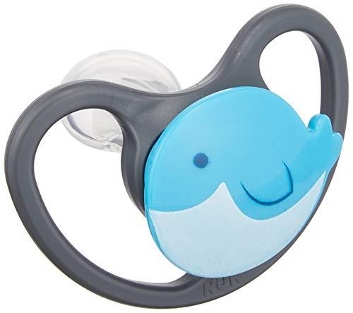NUK ヌーク おしゃぶり 衛生的な消毒ケース付 [手指なめ 防止に] かぶれにくい 敏感肌に 通気性がいい スペース クジラ 新生児 0~6ヶ月 0か月~ OCNK801038138