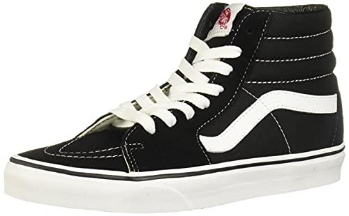 Vans Unisex Sk8-Hi Slim Women's Skate Shoe, Black (Black/Black/White), 11