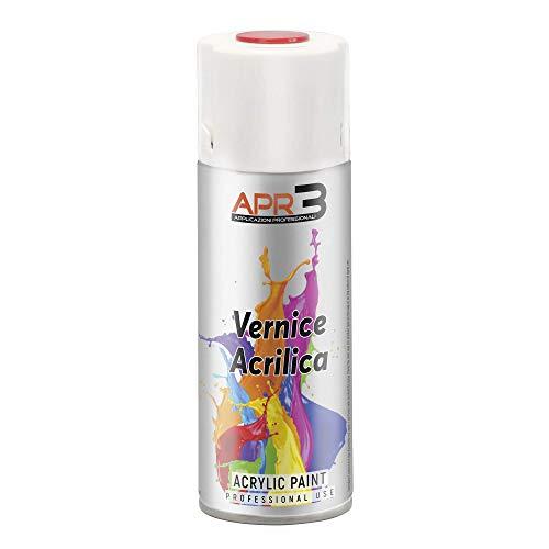 APR3 - S4009001 Smalto Acrilico Spray Multiuso, Colore Bianco Crema RAL 9001, Bomboletta Spray in Banda...