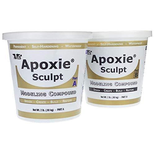 Apoxie Sculpt - 2 Part Modeling Compound (A & B) - 4 Pound, Black