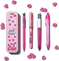 BIC Summer Pink Box: Boli de Gel de Punta Media (0,7mm), Portaminas, BIC 4Colores (1,00mm), marcador - Rosa, Caja de4