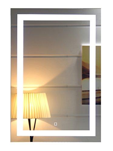 Dr. Fleischmann Espejo de baño con luz LED GS099 de pared con sensor táctil ligero 500 X 700 Mm Blanco