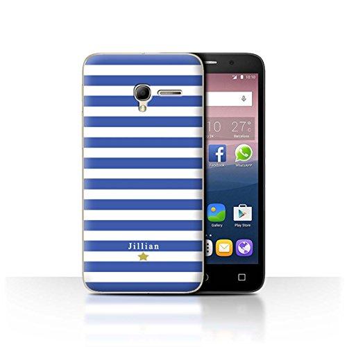 Stuff4Phone Case/Cover/Skin/alcpop35/Custom Stripes/Striped Collection Étoile Rayure Bleu