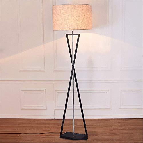 WYDM Lámparas de pie con trípode Modernas con Pantalla de Tela y Lino, luz de pie E27 para Sala de Estar, Dormitorio, luz de diseño de pie con Patas de Metal, lámpara alt