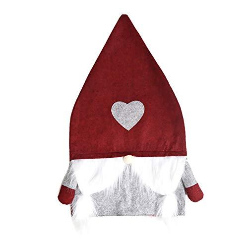 Fundas navideñas para sillas de Comedor Decoraciones para sillas de Papá Noel Muñeco de Nieve Fundas traseras para sillas Fundas navideñas para Navidad Comedor Cocina Decor para Fiestas Adorno