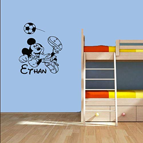 Mickey Mouse Muursticker Sticker Aangepaste naam Mickey Mouse Muurstickers Zelfklevende Kunst Behang voor Sticker Muurstickers 23.5 x 23.5 inches