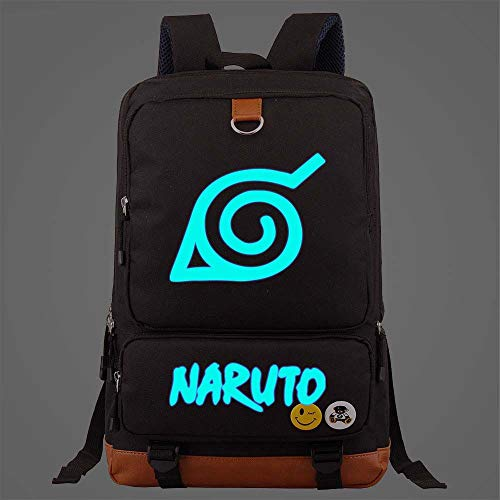 Backpack For High School Girls Boys Teen College Student Womens Mens Naruto Black Large Travel Laptop Bags Sport Rucksack Casual Daypacks