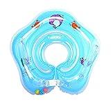 Aomerrt 2PCS Babyschwimmringe Schwimmender Schwimmkörper aus PVC mit doppeltem Sicherheitsdeck und Griff, blau