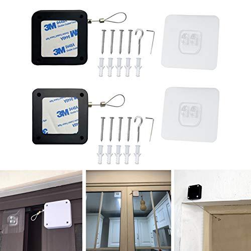 ドアクローザー ドアークローザー ドアクローザー 後付け 引戸 ミニ 扉 ドアノブ 玄関 室内 ドア 鍵 交換 室内用 ドアクローザー(BLACK 2個)