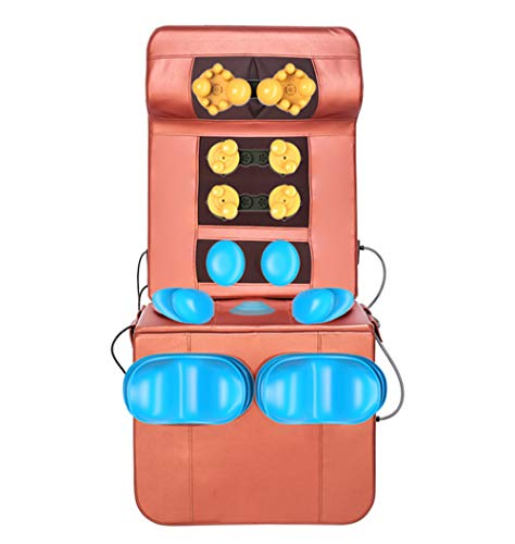 Massage Mat with 8 Vibrating Motors and 4 Therapy Heating pad Full Body Massager Cushion for Relieving Back Lumbar Leg Pain