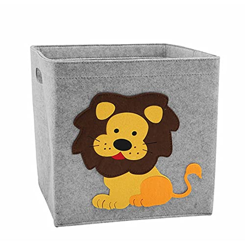 oxskk Cesta De Almacenamiento con Asas,Plegable Sentido Papelera De Almacenamiento,Cubo Tela Pet Perro Gato Juguete De Almacenamiento para Los Niños