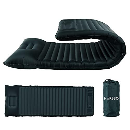 Harsso Materassino Gonfiabile Campeggio Singolo, Materassino Trekking Ultralight Autogonfiante, Materasso Tenda, Materassi Gonfiabili Air Mattress Inflatable per Alpinismo, Viaggio(Marina Militare)